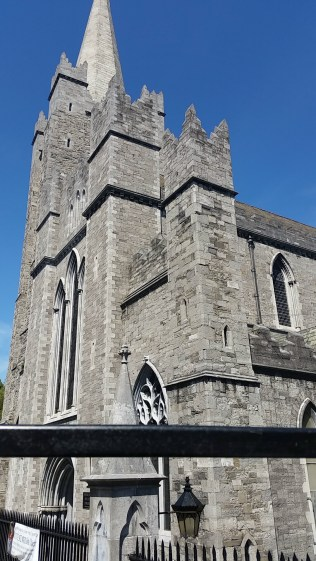 The spire at St Patrick's Cathedral