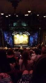 The stage for Wicked