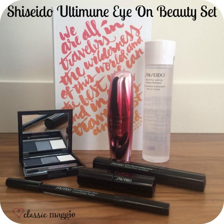 I won, I won!  Shiseido Ultimune Eye On Beauty Set