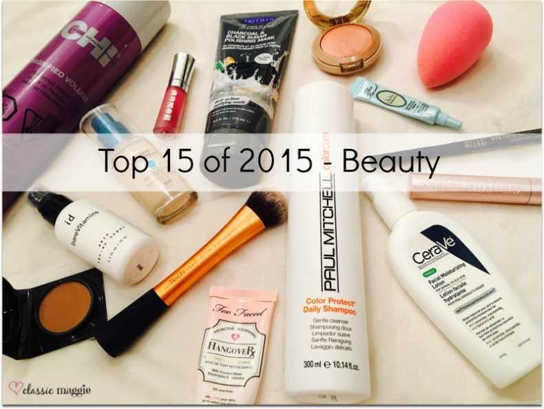Top Beauty Products of 2015