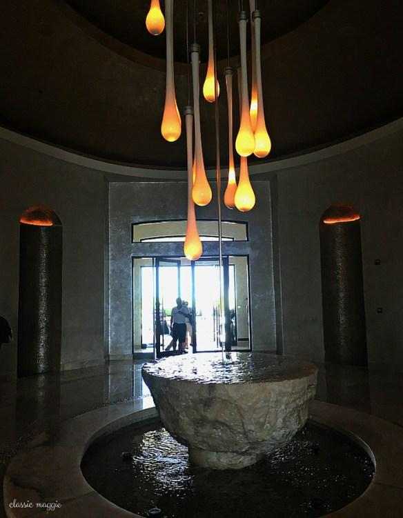 Fountain at the Front Desk - Secrets Maroma Beach