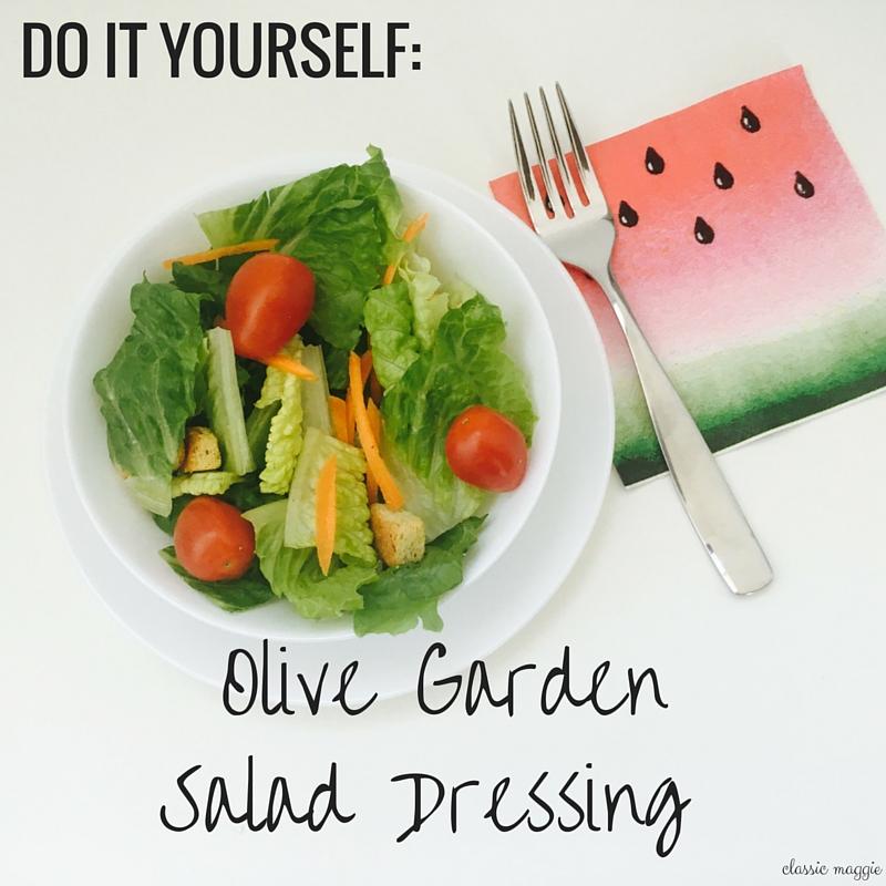 DIY Olive Garden Salad Dressing