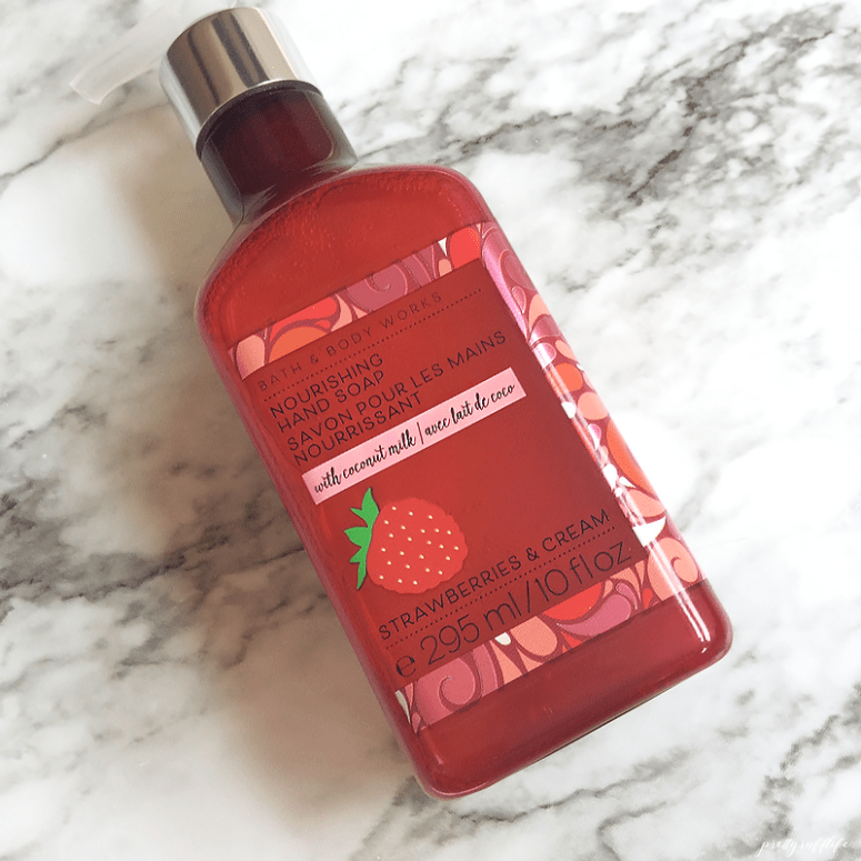 Bath & Body Works Nourishing Hand Soap with Coconut Milk Strawberries & Cream