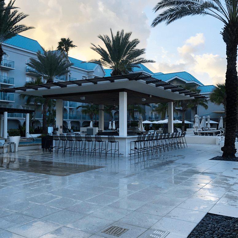 a view of the pool bar at the Westin Seven Mile Beach Grand Cayman Islands