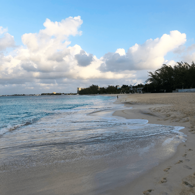 a view of Seven Mile Beach in Grand Cayman Islands