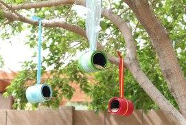 Hanging Drums Bird Feeder