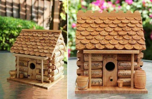 Wine Cork DIY Bird House