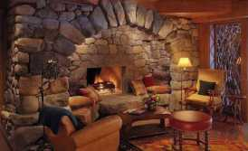 Vintage Look Cozy Fireplace
