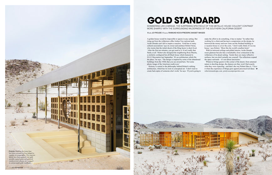 Elle Decor UK U2013 Feature On Acido Dorado. Gold Standard