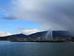 The Jet d'Eau and the coming bad weather