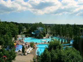 An air view of a part of the water park
