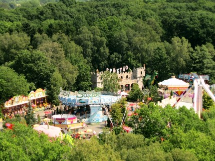An air view of part of the amusement park