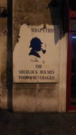 Io che arrivo a Baker Street di notte e fotografo tutto quello che mi capita.