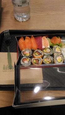 Non mi piaceva niente nel mercato e sono finita da Wasabi a mangiare sushi <3