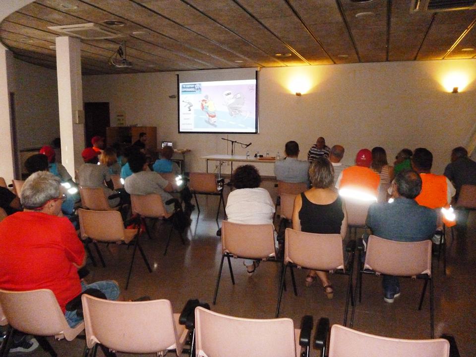 Sesión en Ayuntamiento de Parets del Vallès para trabajadores de diferentes ámbitos laborales.