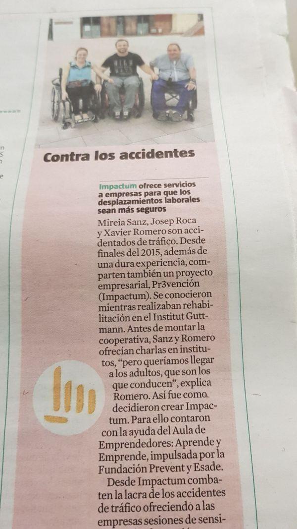 Entrevista suplemento La Vanguardia (14-01-2018).