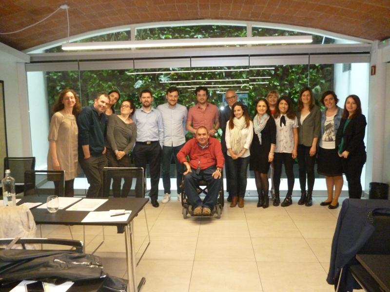 Trabajaores de Barry Callebaut junto a Josep Roca.