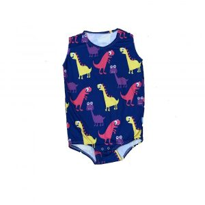 Dino adaptive onesie by Preventa Wear