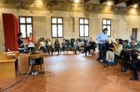 I partecipanti al quarto Laboratorio di Prevenzione sismica riuniti in plenaria per discutere il Documento di Proposta partecipata
