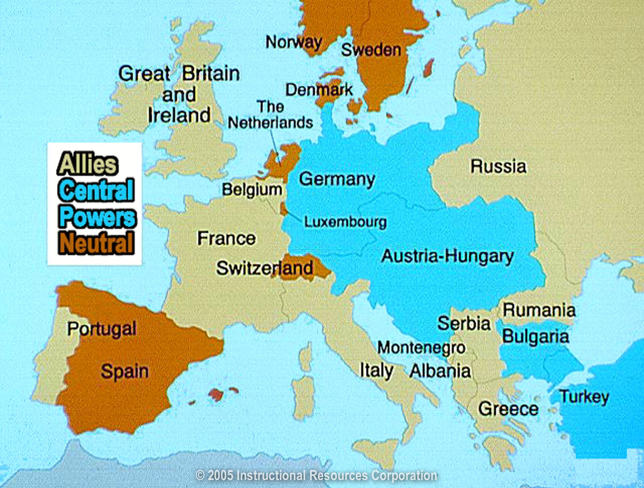 Ireland World War 1 Map
