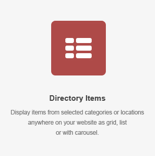 Directory Items Element