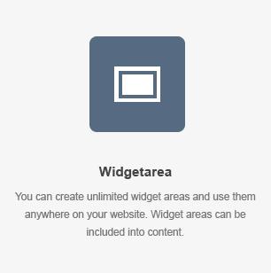 Widget Area Element