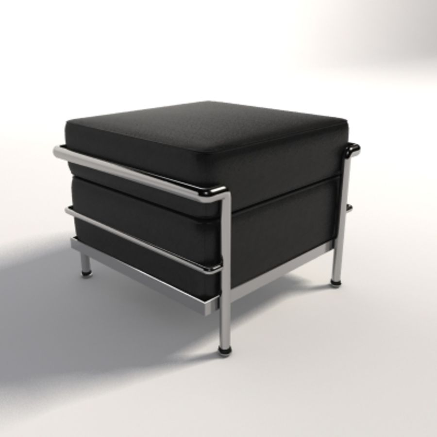le corbusier lc2 ottoman royalty free 3d model preview no 1
