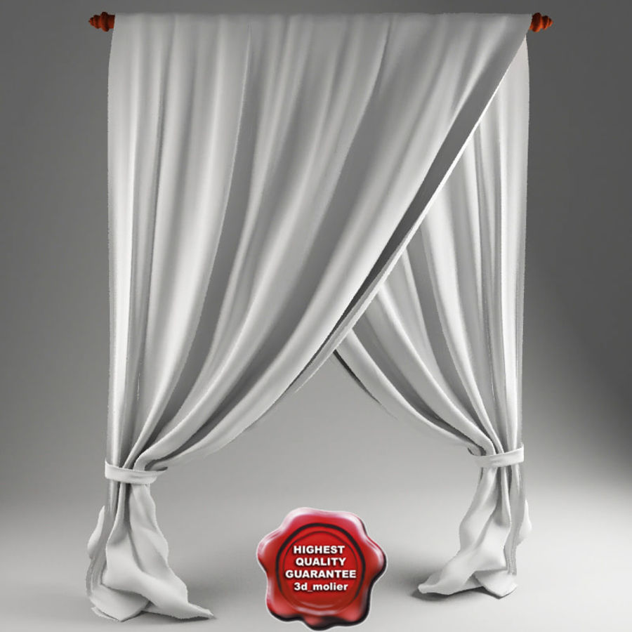 Crossed Curtain Royalty Free Model Preview No 1
