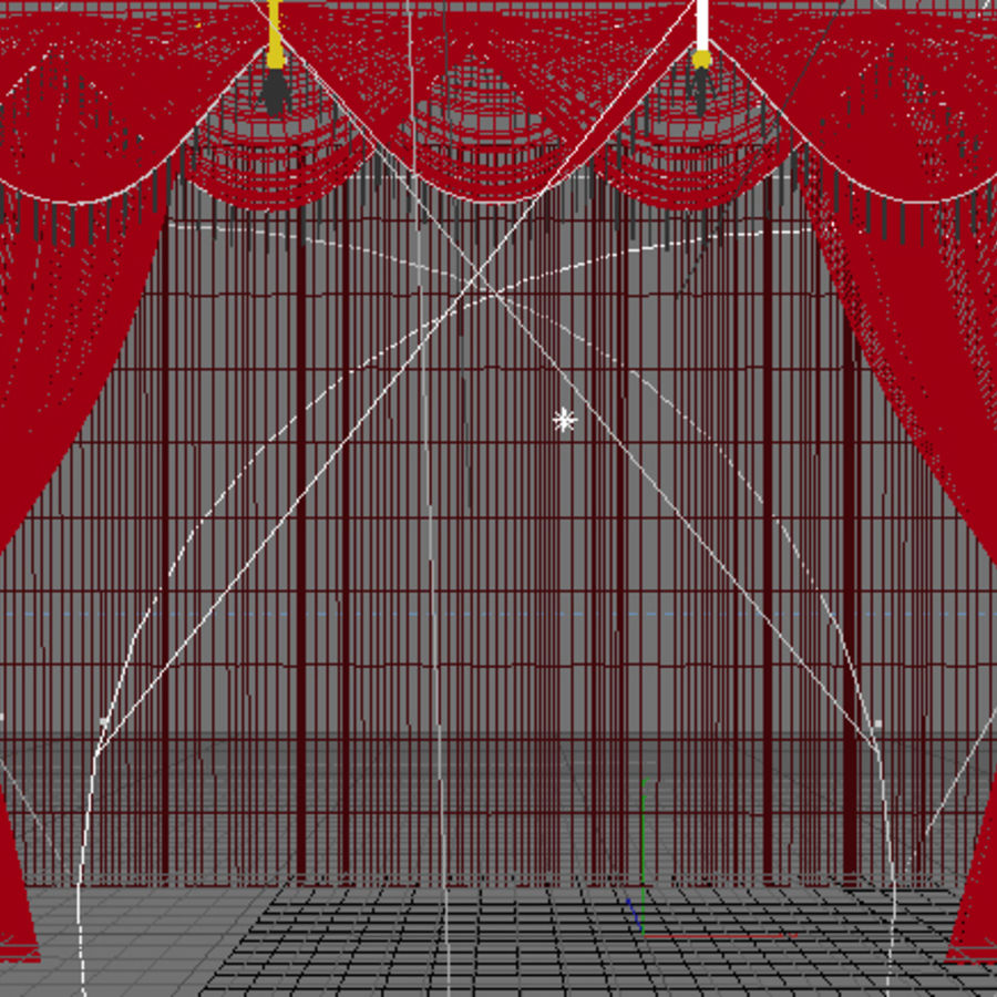 Theater Curtains Royalty Free Model Preview No 2