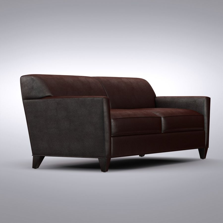 caisse et baril hennessy sofa royalty free 3d model preview no 1