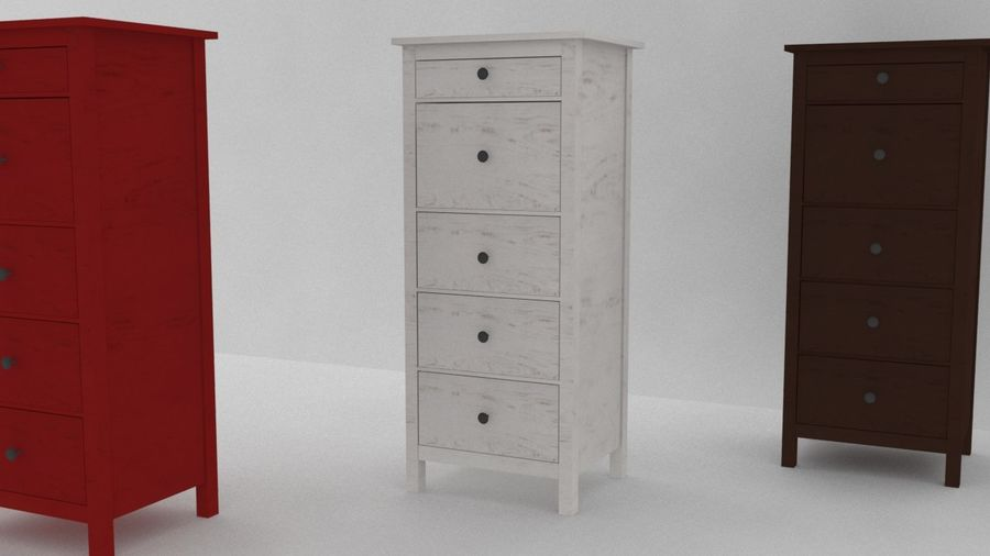Ikea Hemnes Commode 5 Tiroirs Modele 3d 25 Unknown Max Free3d
