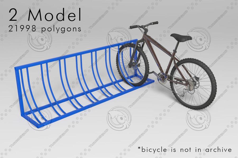 bicycle parking rack part 1 3d model