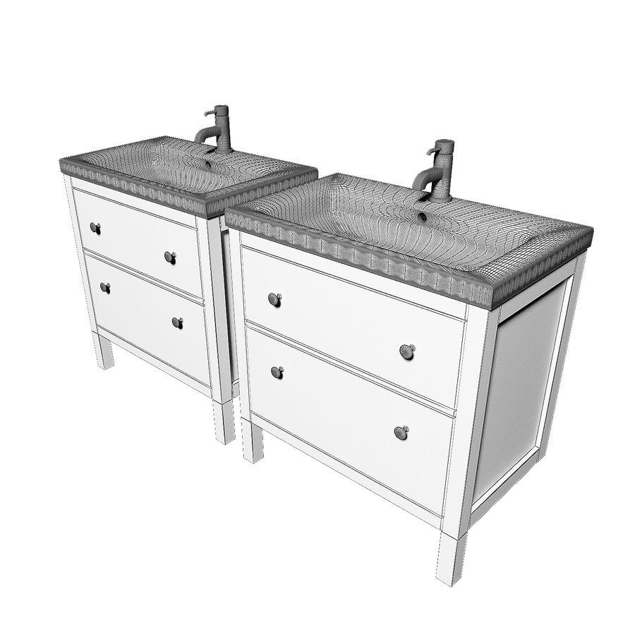 ikea hemnes sink cabinet 3d model 9