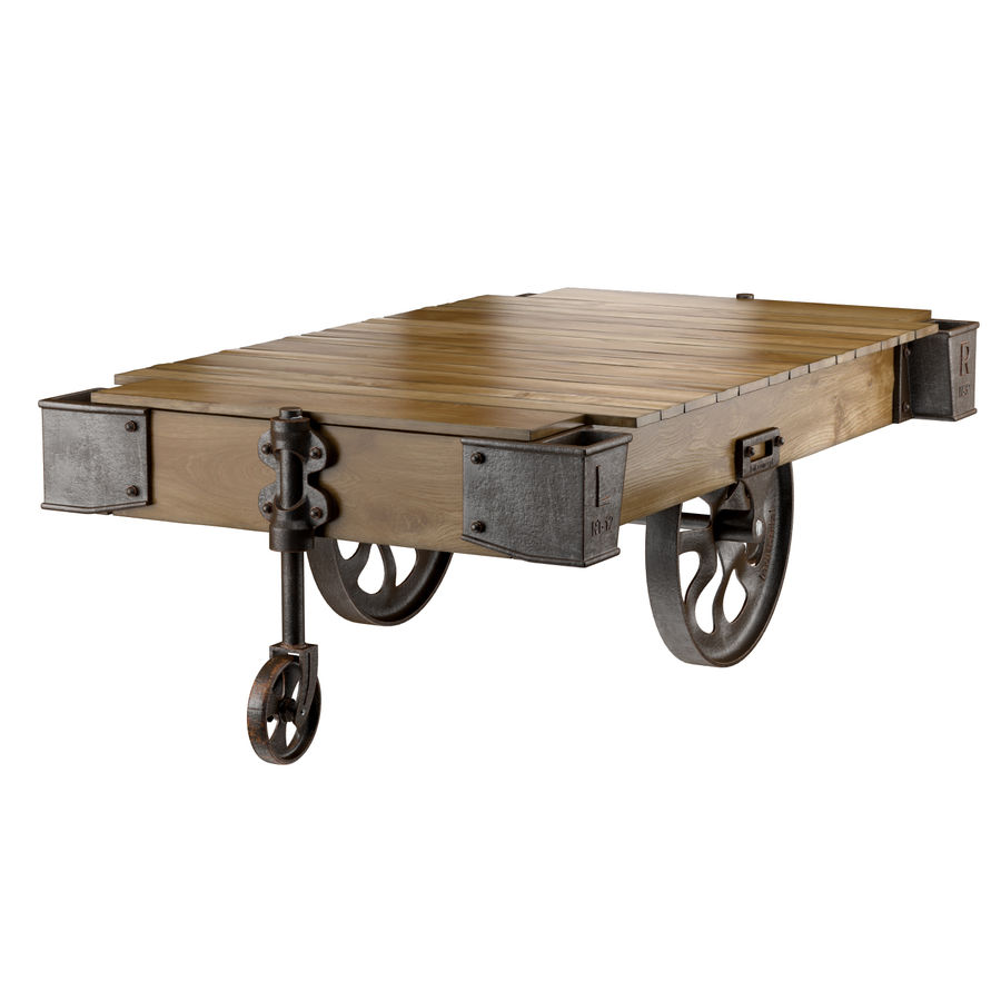 factory cart coffee table 3d model 9