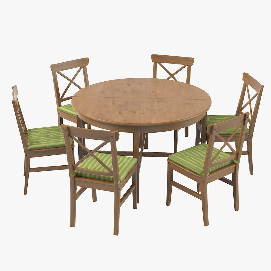 table et chaises ingolf ikea leksvik