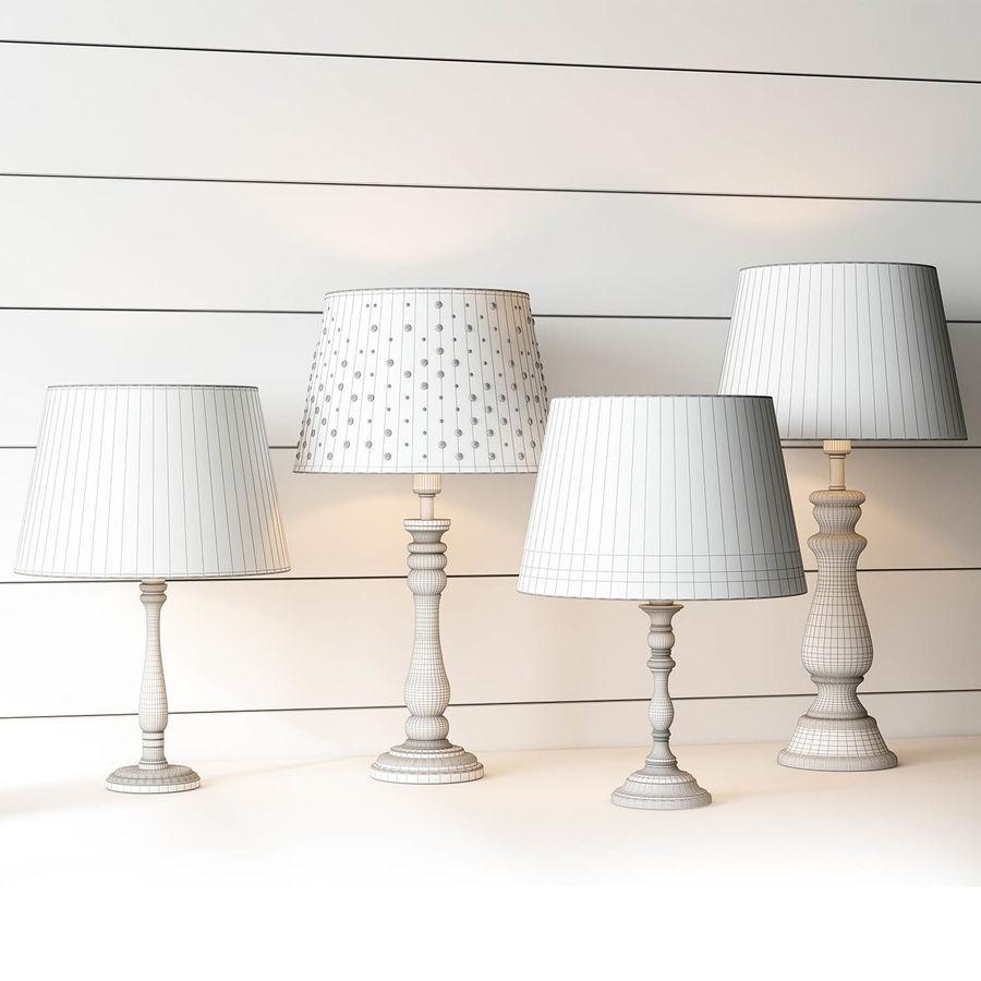 pottery barn kids lamps set 3d model
