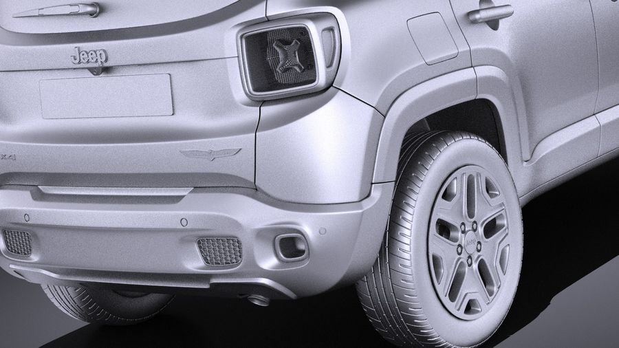 jeep renegade 2017 vray 3d model 129