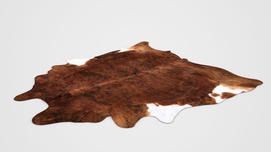 peau de vache koldby2 tapis marron