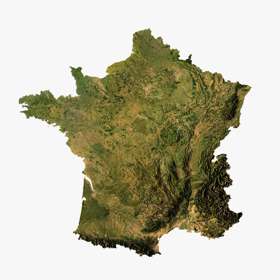 Carte Du Relief De La France Modele 3d Modele 3d 40 Max Stl Unknown Free3d