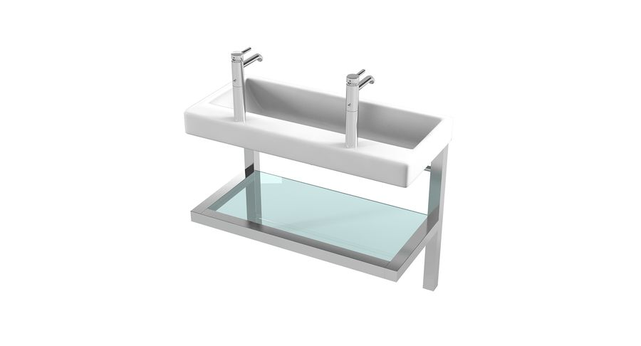 double wide bathroom sink 3d model 20