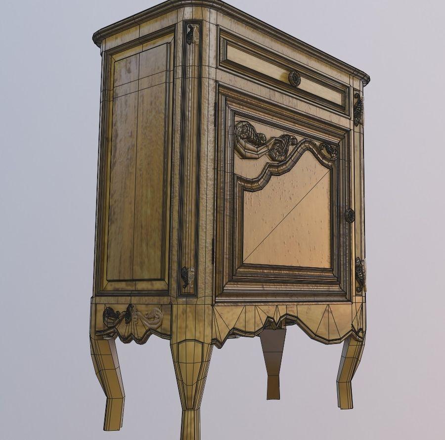 vintage old wooden dresser 3d model 10