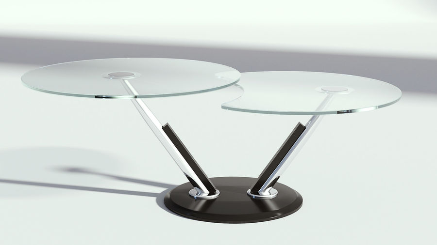 glass double coffee table 3d model 29