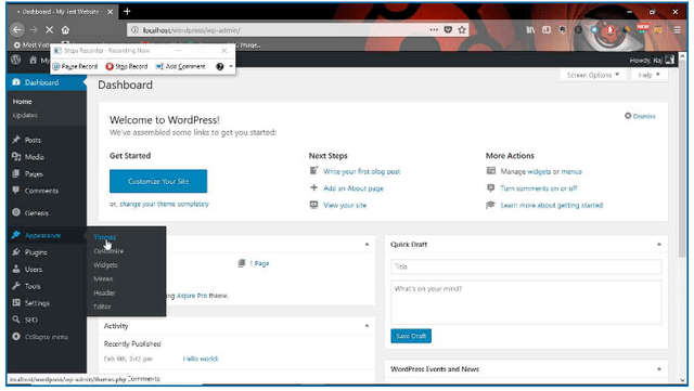 How to change theme in wordpress step 1