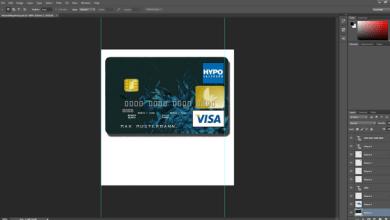 BERLINER BANK VISA CARD PSD TEMPLATE