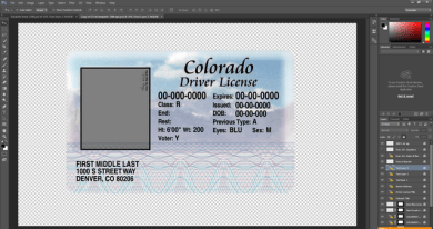 Colorado driving licence psd template