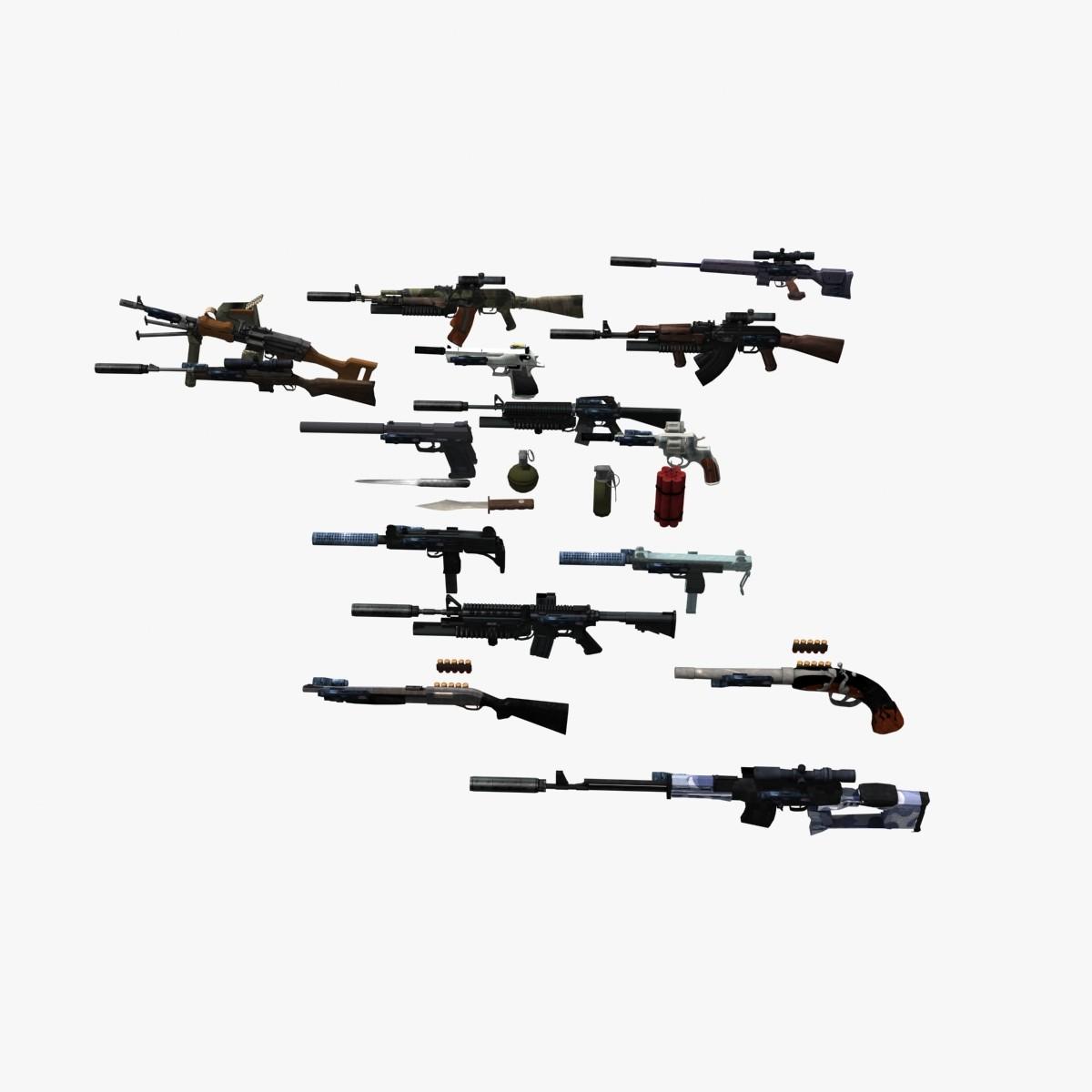 3d Guns Pack Weapons