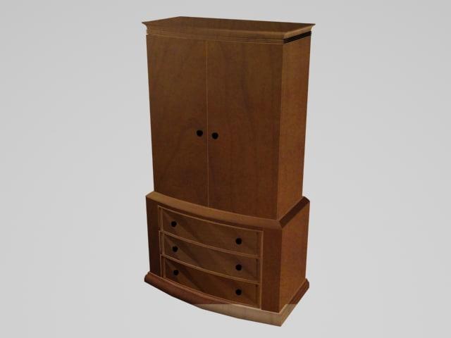 Bedroom Dresser Armoire Cabinet 3d Max