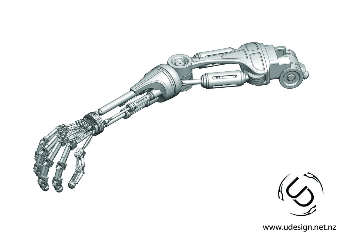 3d Ige Terminator T 800 Arm Formats