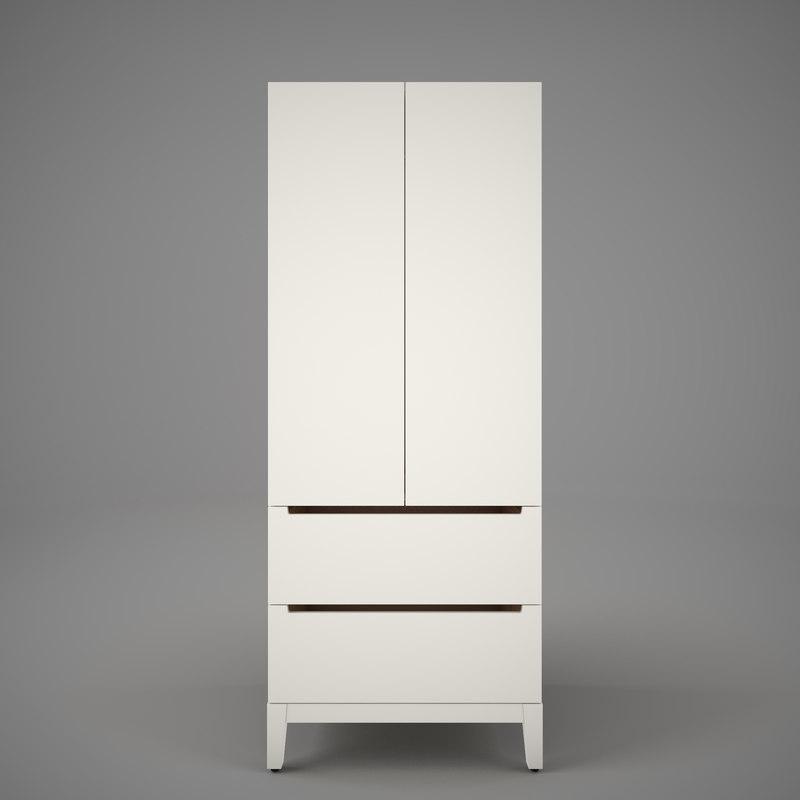 3ds Max Ikea Nordli Wardrobe
