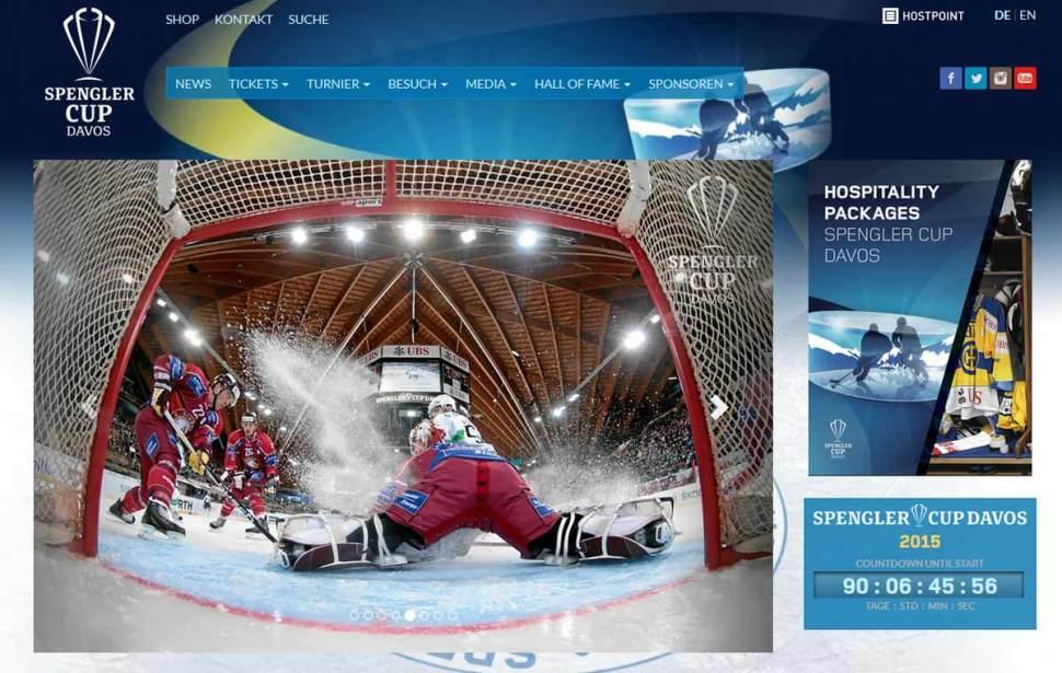 UPC Cablecom parraine la Spengler Cup Davos.